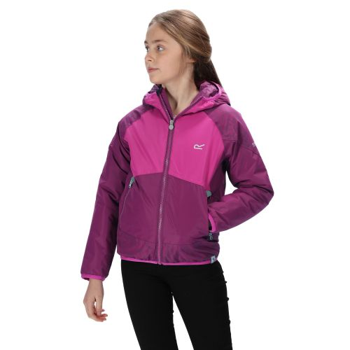 Kids' Volcanics III Waterproof Reflective Softshell Jacket Winberry Vivid Viola